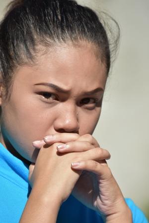 Pretty Asian Female Praying