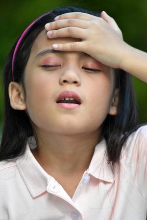 Forgetful Pretty Asian Female