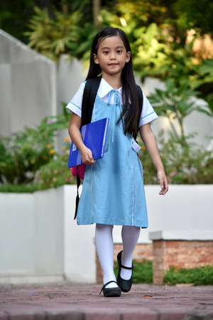 A Wearing School Uniform