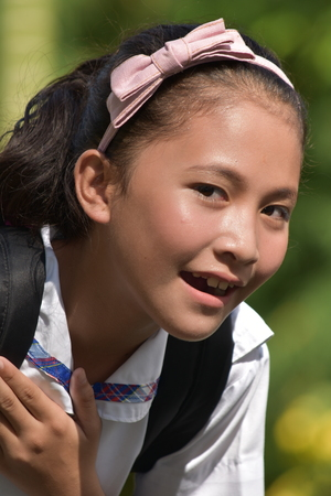 Diverse Girl Student And Laughter 版權商用圖片