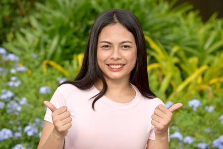 A Proud Filipina Person Stock Photo