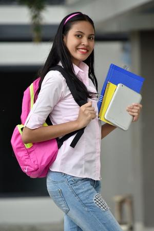 Minority Female Student Posing