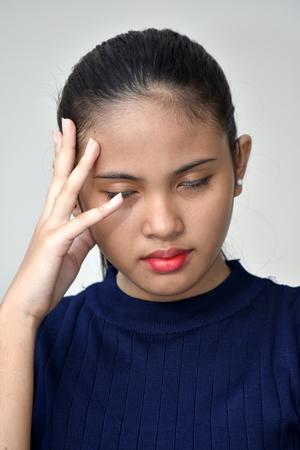 Youthful Filipina Girl Alone