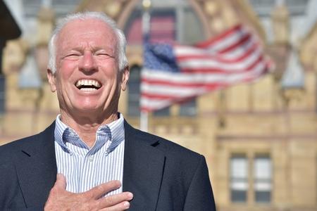 Appreciative Senior Male Politician
