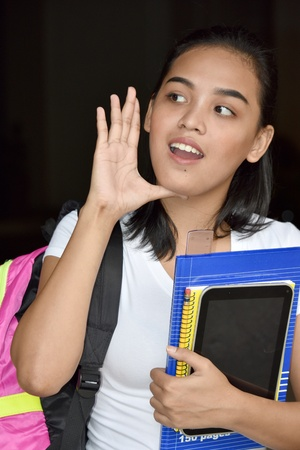 A Girl Student Talking