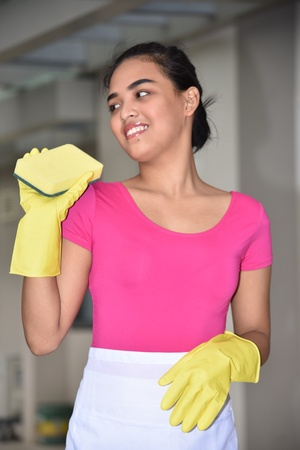 Youthful Diverse Female Cleaning Reklamní fotografie