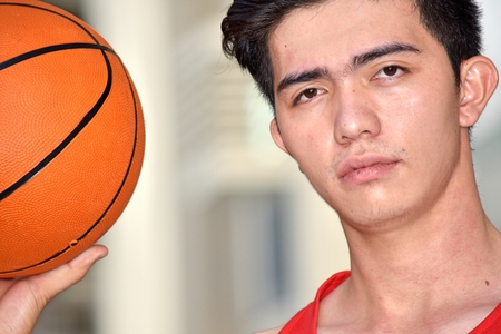 An Unemotional Basketball Player 스톡 콘텐츠