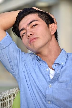 A Posing Male Person