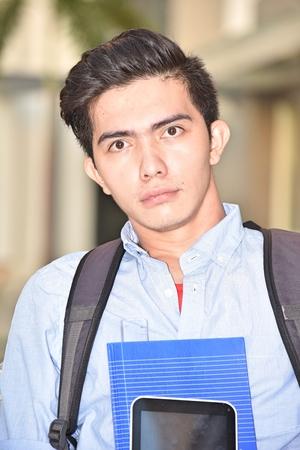 Unhappy University Diverse Student