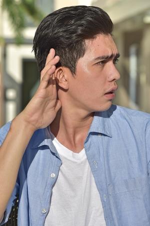 A Diverse Person Hearing Banco de Imagens
