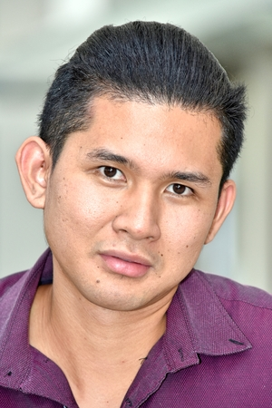 A Serious Asian Male Stockfoto