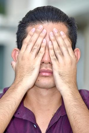 Ashamed Young Filipino Person