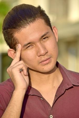 Handsome Filipino Male Decision Making