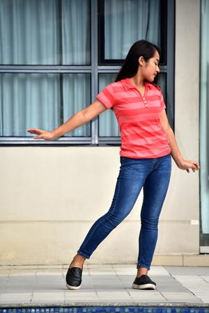 Filipina Female Dancing Standing