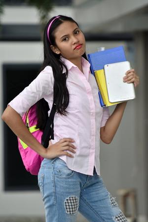 Diverse Girl Student Posing