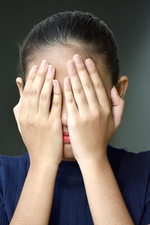 Pretty Asian Juvenile And Failure Reklamní fotografie