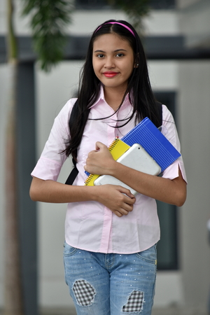 Young Girl Student Posing