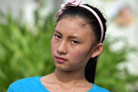 Serious Asian Female Youngster