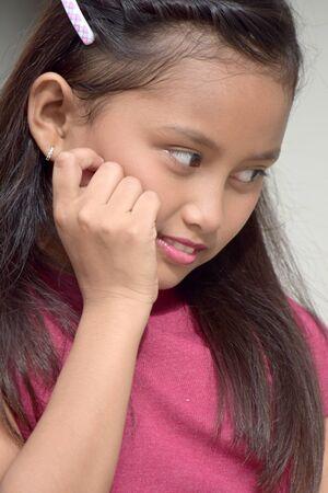 An Anxious Girl Child