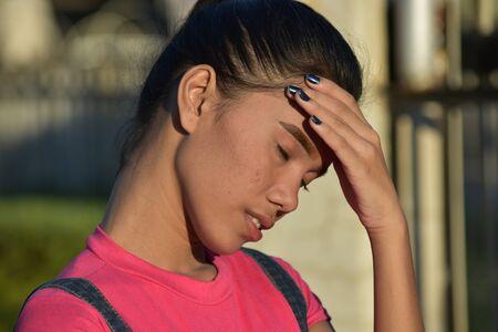 A Worried Minority Female Stok Fotoğraf