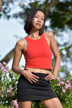 A Posing Asian Woman