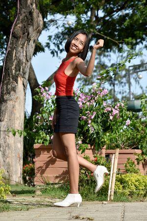 Adult Female Having Fun Standing Stock Photo - 128328685