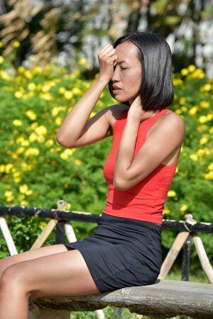Attractive Minority Female Under Stress