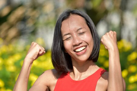 Successful Beautiful Filipina Woman Reklamní fotografie
