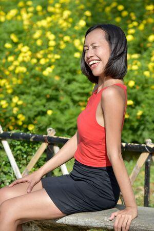 Winking Attractive Filipina Female