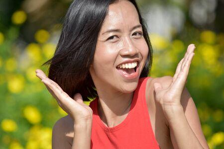 Surprised Pretty Asian Person Reklamní fotografie