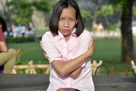 A Stubborn Adult Female 版權商用圖片