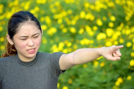 Upset Youthful Filipina Female