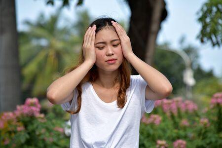 Beautiful Asian Adult Female And Memory Loss
