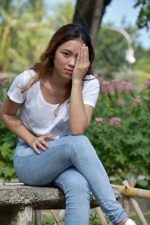 Shameful Pretty Minority Female Woman