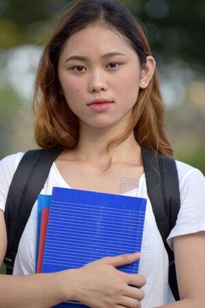 Serious School Girl Student