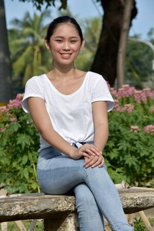 Smiling Youthful Minority Female