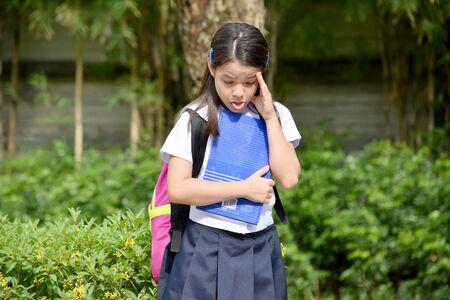 Sick Female Student School Girl