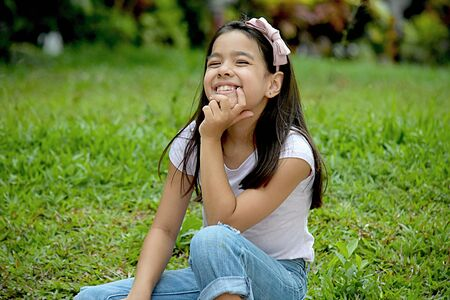 Young Filipina Female Thinking