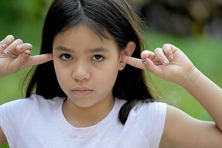 A Girl And Silence Stock Photo