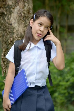 Insane Pretty Diverse School Girl With Notebooks