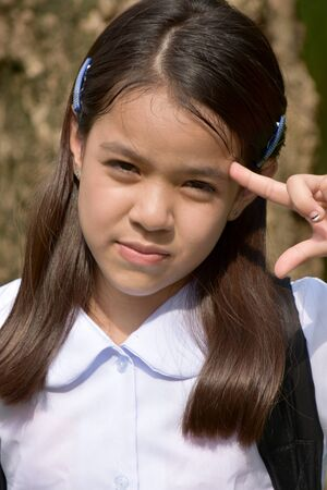 Stupid Cute Minority School Girl Stockfoto