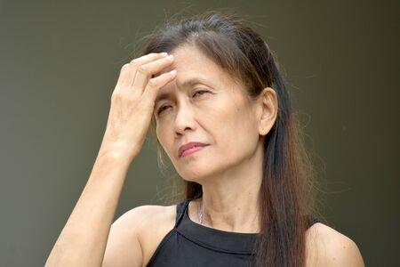 Retired Minority Female Senior With Alzheimers Reklamní fotografie