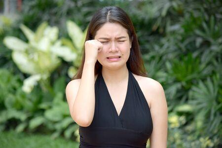 An Anxious Attractive Filipina Female