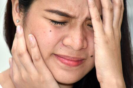 A Stressful Filipina Female