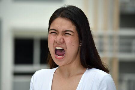 An Anxious Filipina Female