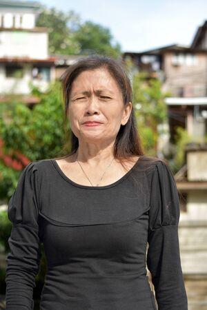 An Anxious Female Senior