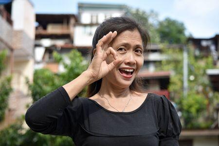 Ok Old Minority Female Senior Gramma