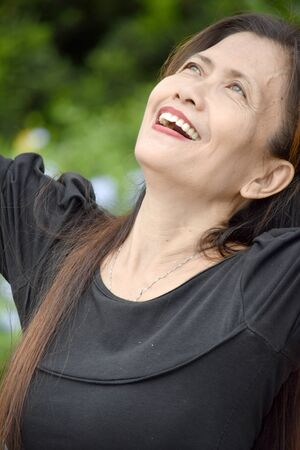 A Retired Female Senior And Freedom
