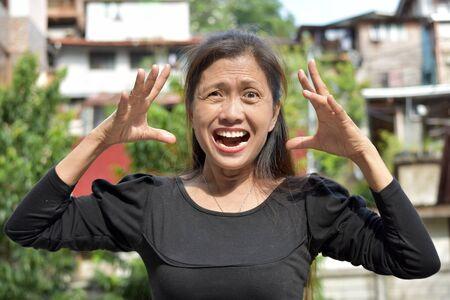 A Retired Female Senior Under Stress