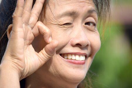 An Okay Filipina Person